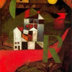 Villa R, Paul Klee Size: cm Medium: oil, panel Wassily Kandinsky, Framing Canvas Art, Edvard Munch, Paul Klee Art, Josef Albers, Ecole Art, Social Art, Art Abstrait, Art Plastique