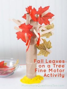 DIY Children's : DIY Leaves And Ghosts On A Tree Craft