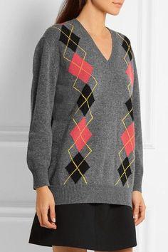 Prada - Argle Wool Sweater - Gray - IT40