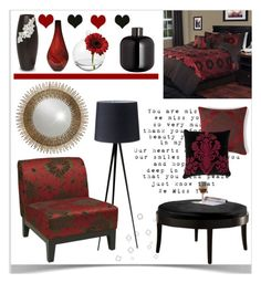 """Bedroom Sitting Area"" by pat912 ❤ liked on Polyvore featuring interior, interiors, interior design, home, home decor, interior decorating, H&M, NOVICA, Cultural Intrigue and Office Star"