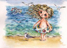 «Мне чайка напела про дальние страны. Мне волны шептали : расти поскорей! И ночью мне снились моря-океаны, И бури, и штормы и сталь якорей. Я вырасту скоро. Пойду в капитаны. И чайки мне станут милее друзей. Пока я расту. И мечтать не устану О странствиях дальних больших кораблей!» Лора Фелештинская