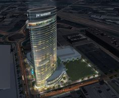 Arquitectonica's Undulating Hotel Tower to Be Nashville's Lastest Landmark