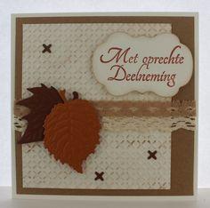 Gemaakt door Joke # condoleance kaart met herfstbladeren #2