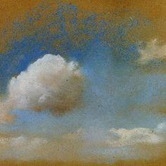 Edgar Degas , Sky Study, 1869