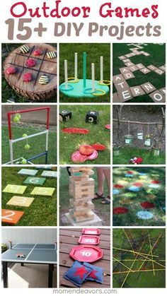 "DIY Outdoor Games – 15+ Awesome Project Ideas for Backyard Fun! [   ""DIY Outdoor Games — 15 Awesome Project Ideas for Backyard Fun! this would so work for an outside birthday party games"",   ""DIY Outdoor Games — Awesome Project Ideas for Backyard Fun! We have the best backyard for this! This is going on my MUST DO summer list!"" ] #<br/> # #Lawn #Games,<br/> # #Backyard #Games,<br/> # #Backyard #Ideas,<br/> # #Garden #Games,<br/> # #Backyard #Bbq,<br/> # #Pool #Games,<br/> # #Summer…"