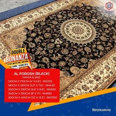 Other for sale, RM230 in Klang, Selangor, Malaysia. Soft & Comfortable Rugs Carpet-Buy Now & Save Money!!  DOUBLE BONANZA PROMO ON ALFOROSH RUG   GET 5
