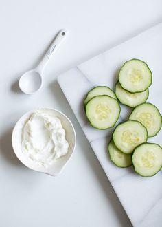 Calming Cucumber Yogurt Mask | 4 Yogurt Mask Recipes