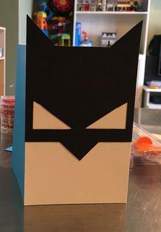 Batman card. Birthday, dark knight, minimalist, scrapbook, handmade card, DIY