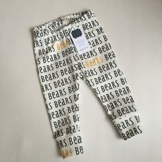 Organic Baylor Bear Leggings // These are so adorable! #SicEm