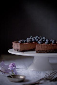 Raw Vegan Chocolate Cheesecake.
