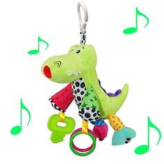 CAIJ Baby Infant Plush alligator Toy with music * You can find more details by visiting the image link.