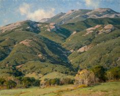 "Clyde Aspevig . California Tapestry . o/c 24x30"""