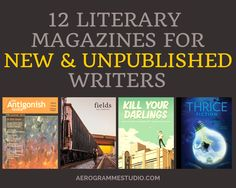 A list of literary magazines that welcome submissions from emerging and previously unpublished writers. If you haven't submitted your work for publication before, or if you would just like some tips from the experts, be sure to read How to Submit Your Writing to Literary Magazines, a great article with lots of useful advice from the editors of Neon Literary Magazine.