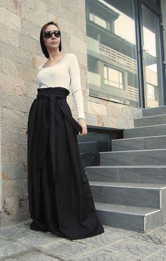 Jupe jupe longue jupe dhiver jupe longue jupe par CARAMELfs sur Etsy