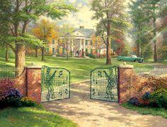Elvis' home, Graceland, Memphis, TN Bing Images