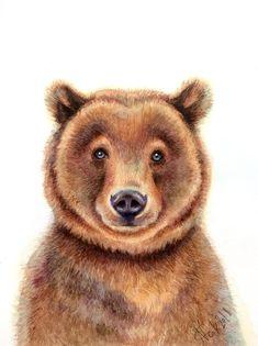 Colin Bogle Curious Cub II Keilrahmen-Bild Leinwand Bär Braunbär Baby