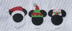 Scrap With Me *Pre-made Disney Scrapbook Embellishments Christmas Mickey Minnie