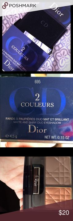 Christian Dior eyeshadow  two color, authentic Brand new authentic Christian Dior eyeshadow two color. Christian Dior Makeup Eyeshadow