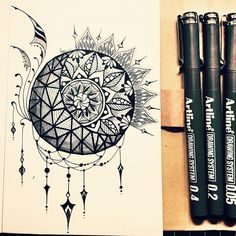 sun and moon zentangle - Google Search