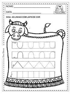 230 Atividades sobre Folclore para Imprimir e Colorir - Online Cursos Gratuitos Maria Martin, Gisele, Preschool, Education, 230, Folklore, Literacy Activities, Fine Motor, Motor Skills