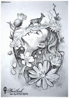 Peter Žuffa 2016 #art #tat #tattoo #tattoos #tetovanie #original #tattooart #slovakia #zilina #bodliak #bodliaktattoo #bodliak_tattoo #spring_tattoo #nature_tattoo #woman_tattoo