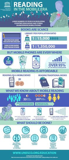 Literacy in the mobile era / UNESCO has published a very interesting report, Reading in the mobile era, that highlights how inexpensive mobile phones can be used in developing countries improve literacy and facilitate reading.