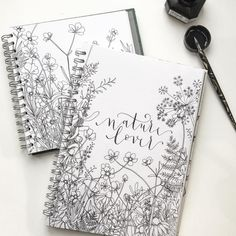 Bullet journal drawing idea, flower drawings, floral drawings. @sketchyminx