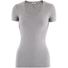Splendid Silver T-Shirt Heather Grey ($79) ❤ liked on Polyvore featuring tops, t-shirts, shirts, blusas, silver t shirt, splendid shirt, splendid tops, splendid t shirts and heather gray shirt