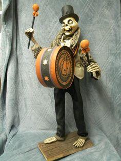 Original Scott Smith Rucus Studio Halloween Drummer Skeleton