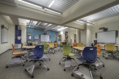 KI's seating goes wherever it's needed and adapts to student preferences. A unique non-handed and fully adjustable worksurface provides customized comfort and enhances interaction. Education Architecture, School Architecture, Learning Spaces, Learning Environments, Classroom Training, Inspired Learning, Classroom Design, Architect Design, School Design
