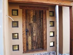 Hereu0027s a great idea Take and old door Stain or paint your desired color then cover the panels with mirror original and very cool! & Hereu0027s a great idea Take and old door Stain or paint your desired ... pezcame.com