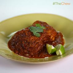 Chocolate Chicken Mole (Chicken with Savory Chocolate Sauce) Mario Batali The Chew Recipes, Cooking Recipes, Healthy Recipes, Family Recipes, Delicious Recipes, Chicken Mole Recipe, Chicken Recipes, Italian Recipes, Mexican Food Recipes
