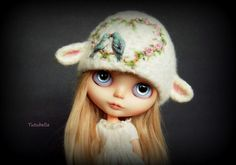 GORGEOUS Needle Felted Lamb hat by ♡ Tutubella ♡   LOVE!!!