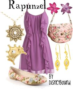 Rapunzel outfit by Disney Bound Disney Princess Outfits, Disney Dresses, Disney Outfits, Cute Outfits, Disney Clothes, Disney Princesses, Beautiful Outfits, Estilo Disney, Rapunzel Outfit