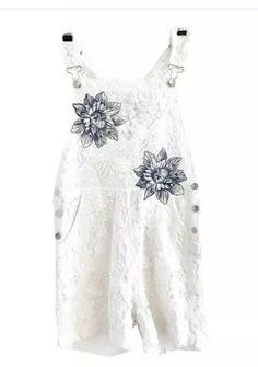 f87a3afcf744 Jo Jeans White Lace Embroidered Floral Romper Size 25  fashion  clothing   shoes  accessories  womensclothing  jumpsuitsrompers (ebay link)