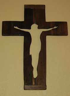 Unique Distressed Wooden Cross. Rutic Wall by EmmaKatesDesigns