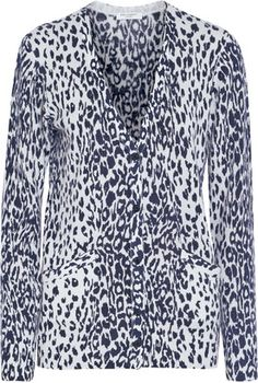 Equipment Sullivan leopard-print cashmere cardigan - Shop for women's Cardigan