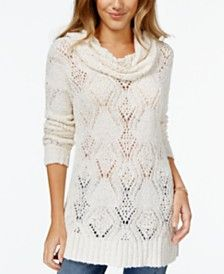 American Rag Cowl-Neck Pointelle Pullover Sweater, Only at Macy's