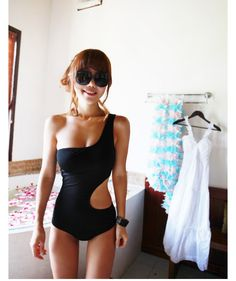Monokini, I like this because I hate my lower stomach, fun, shows some skin, but not that pooch...
