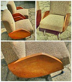 Klasyka polskiego wzornictwa - 2 x fotel typ 360 projekt: J. Różański,  produkcja: Zjednoczenie Przemysłu Meblarskiego, lata 60-te