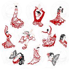 Résultats de recherche d'images pour « flamenco dancer silhouette »