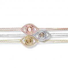 The most beautiful handmade evil eye bracelets. 18k gold and diamonds. ilanit nissim netali nissim Miraclesbyilanit.com