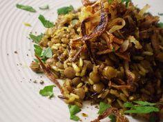 Vegan Thyme: Mejadra (from Jerusalem: A Cookbook)