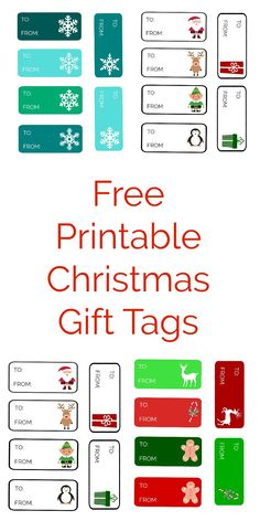 Printable christmas gift tags special delivery from santa gift last minute free printable christmas gift tags negle Choice Image