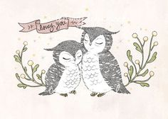 Lovey You  Print by whimsywhimsical on Etsy, $12.00