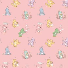 Hippie Wallpaper, Wallpaper Iphone Cute, Cute Wallpapers, Bear Print, Little Twin Stars, Care Bears, Pink Fabric, Fabric Panels, Sewing Projects