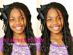 Kids Crochet Box Braids Ideas box braisike crochet box braids little girls Kids Crochet Box Braids. Here is Kids Crochet Box Braids Ideas for you. Kids Crochet Box Braids the 11 cutest box braids for kids in Kids Croche. Cute Box Braids, Kids Box Braids, Crochet Braids For Kids, Girls Braids, Braids Ideas, Kids Crochet, Fishtail Hairstyles, Kids Braided Hairstyles, Cute Hairstyles For Kids
