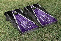 Cornell College Rams Reclaimed Wood w/ Triangle Bag Toss Game Set