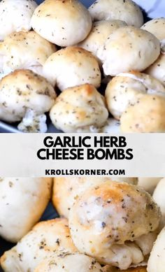 This Garlic Cheese Bread recipe is the perfect blend of cheese, herbs and gooey-. This Garlic Cheese Bread recipe is the perfect blend of cheese, herbs and gooey-ness! They are easy Pilsbury Biscuit Recipes, Pillsbury Crescent Recipes, Refrigerated Biscuit Recipes, Bisquit Recipes, Bread Appetizers, Appetizer Recipes, Easter Recipes, Appetizer List, Recipes Dinner
