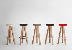 FLAK Stool. Nathan Yong 2011   Texturised lacquered colours: White, Black, Tobacco, Sand, Dark sand, Green, Light green, Mustard, Pure red, Blue, Light blue, Cement grey, Silver, Coral, Blue Sky, Grey/Blue or Yellow.